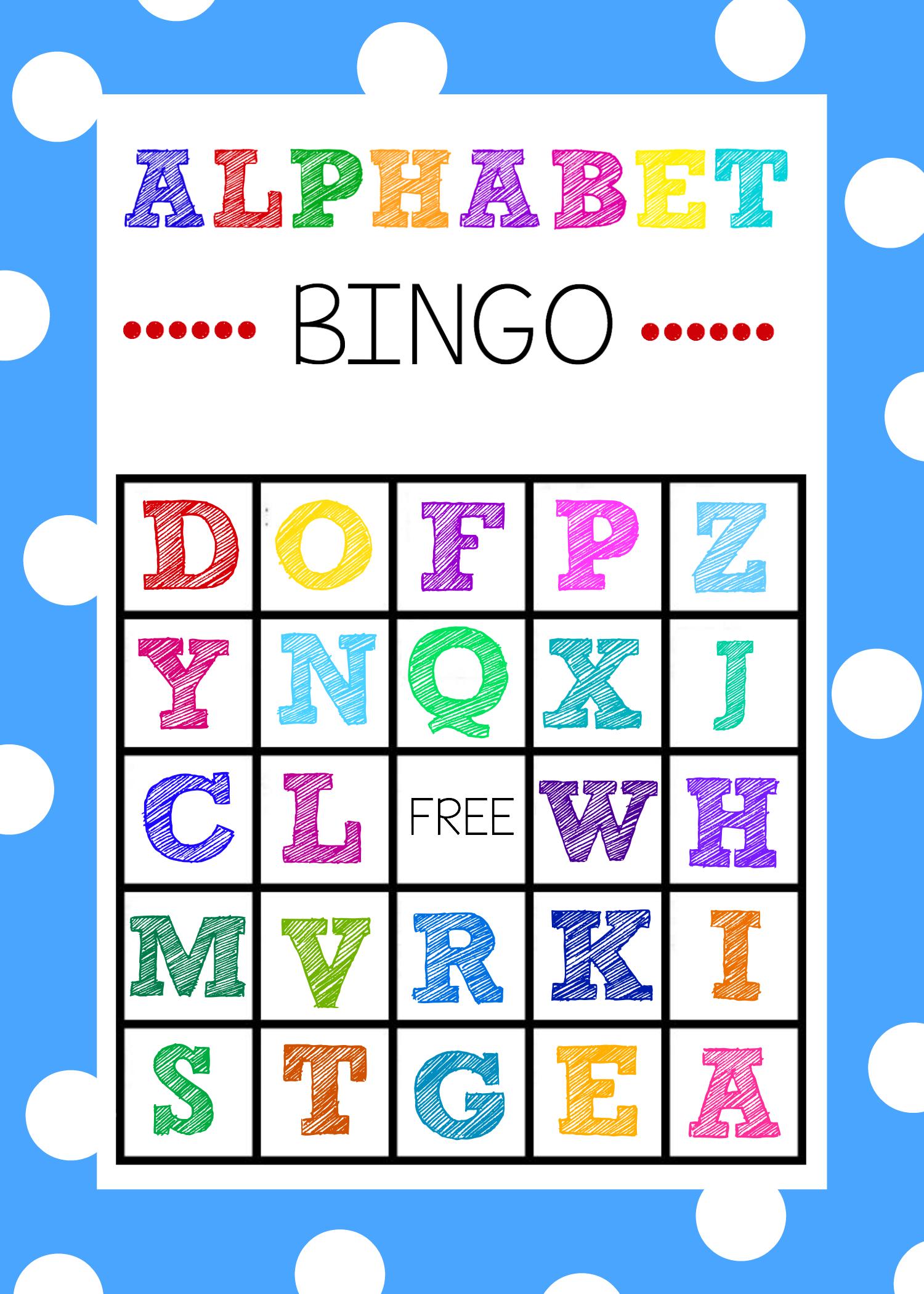 Free Printable Alphabet Bingo Game - Free Printable Alphabet Board Games