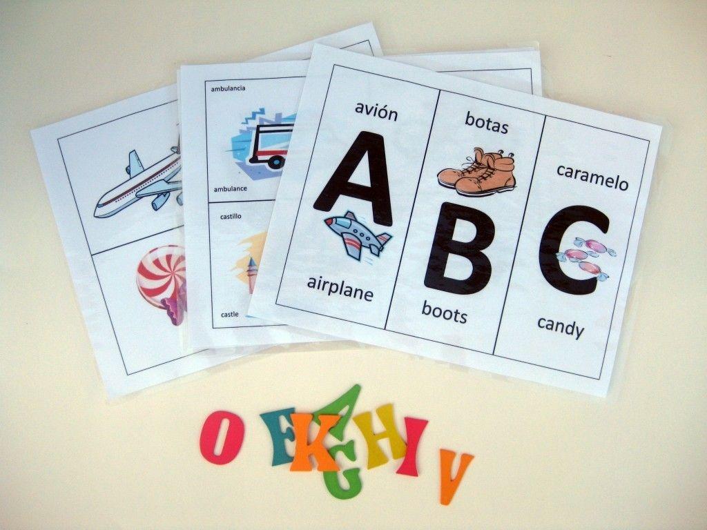 Free Printable Alphabet Flashcards In Spanish   Kiddos   Spanish - Spanish Alphabet Flashcards Free Printable