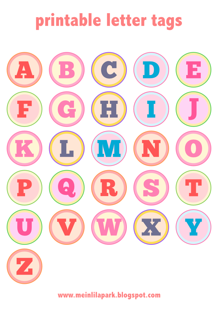 Free Printable Alphabet Letter Tags – Diy Buchstaben Sticker - Free Printable Alphabet Letters