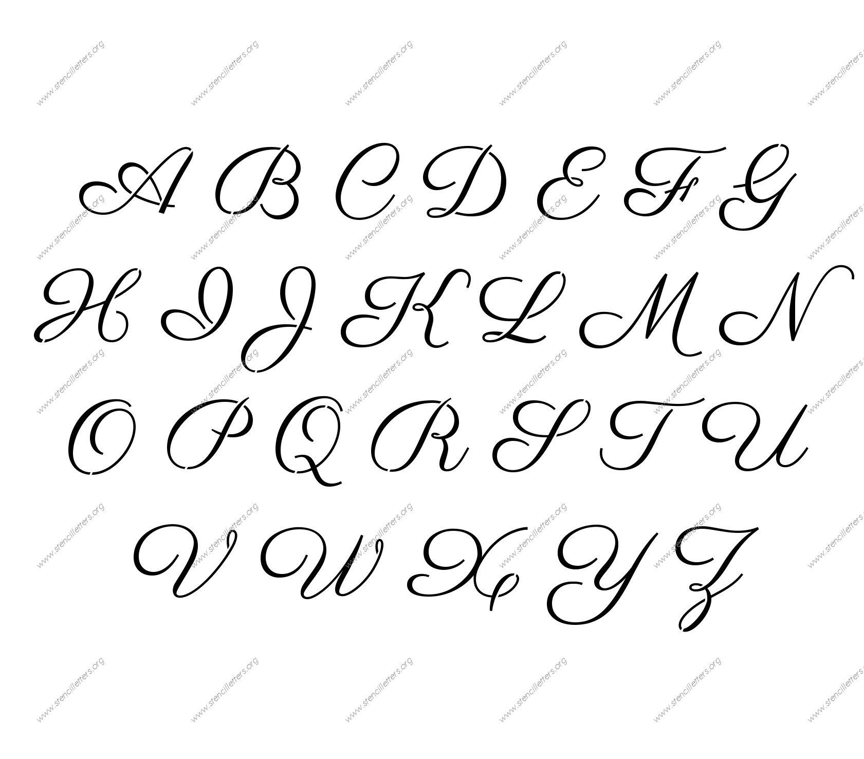 Free Printable Alphabet Stencil Letters Template | Art & Crafts - Free Printable Fonts