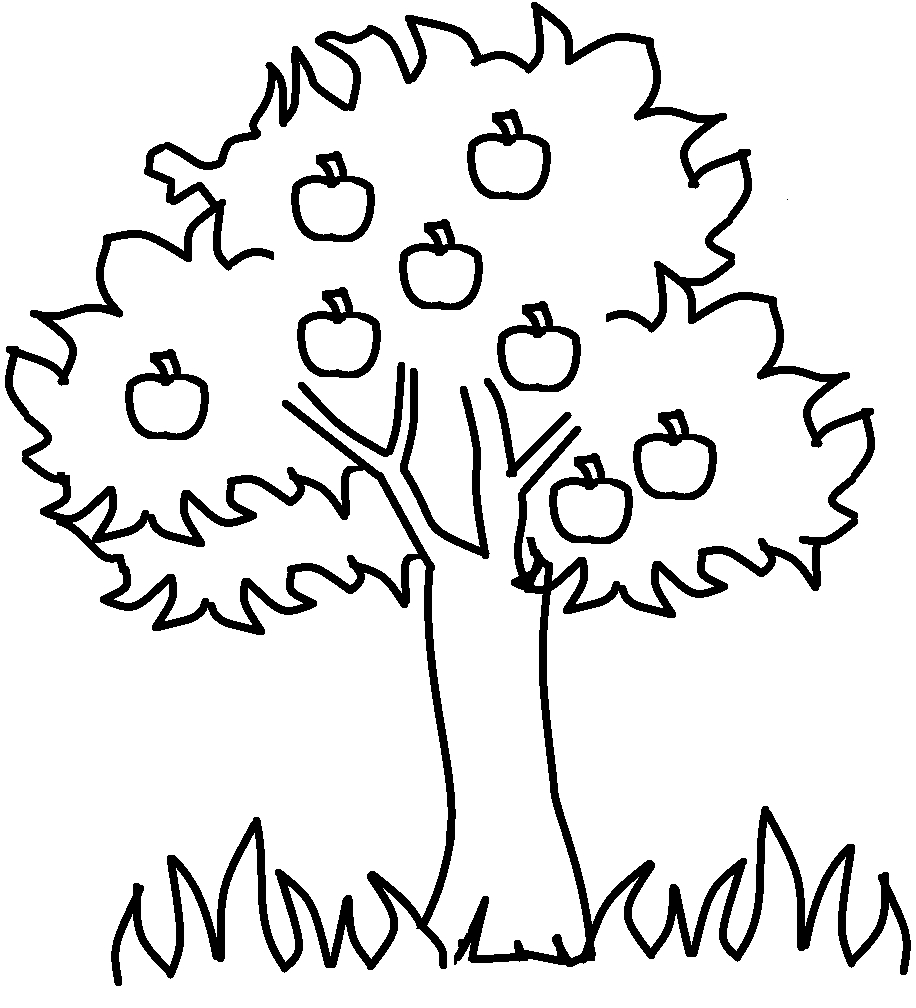 Free Printable Apple Coloring Pages For Kids   For The Kids   Apple - Tree Coloring Pages Free Printable