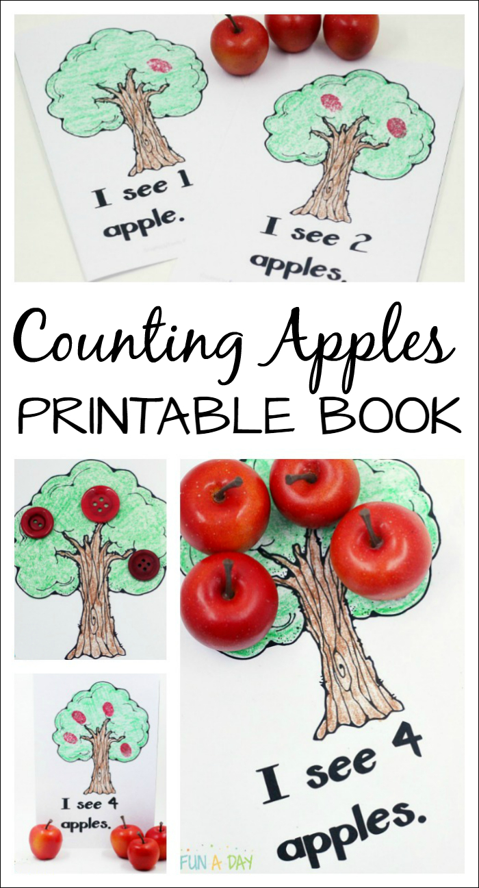 Free Printable Apple Counting Book Perfect For A Preschool Apple Theme - Free Printable Reading Books For Preschool