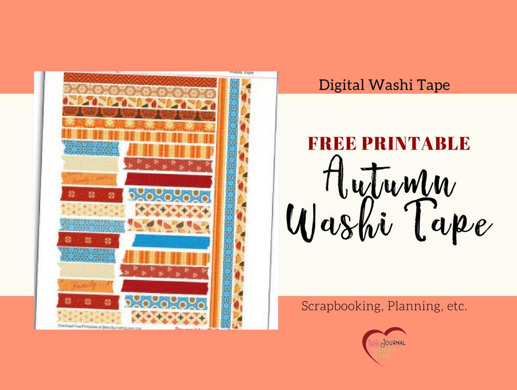 Free Printable Autumn Washi Tape – Bible Journal Love - Free Printable Autumn Paper