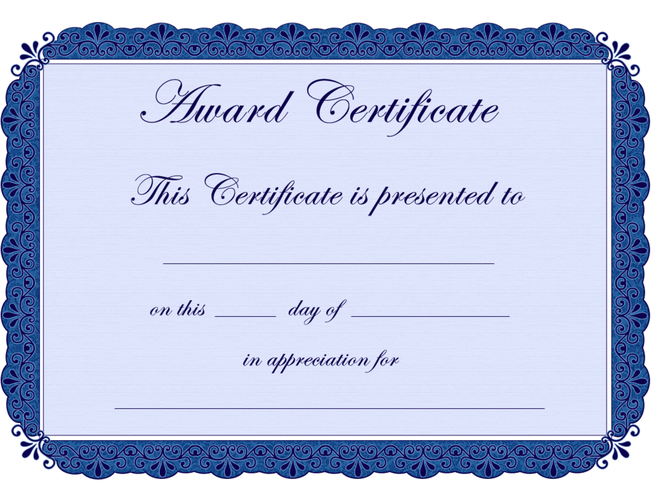 Free Printable Award Certificate Borders |  Award Certificate - Free Printable Wrestling Certificates