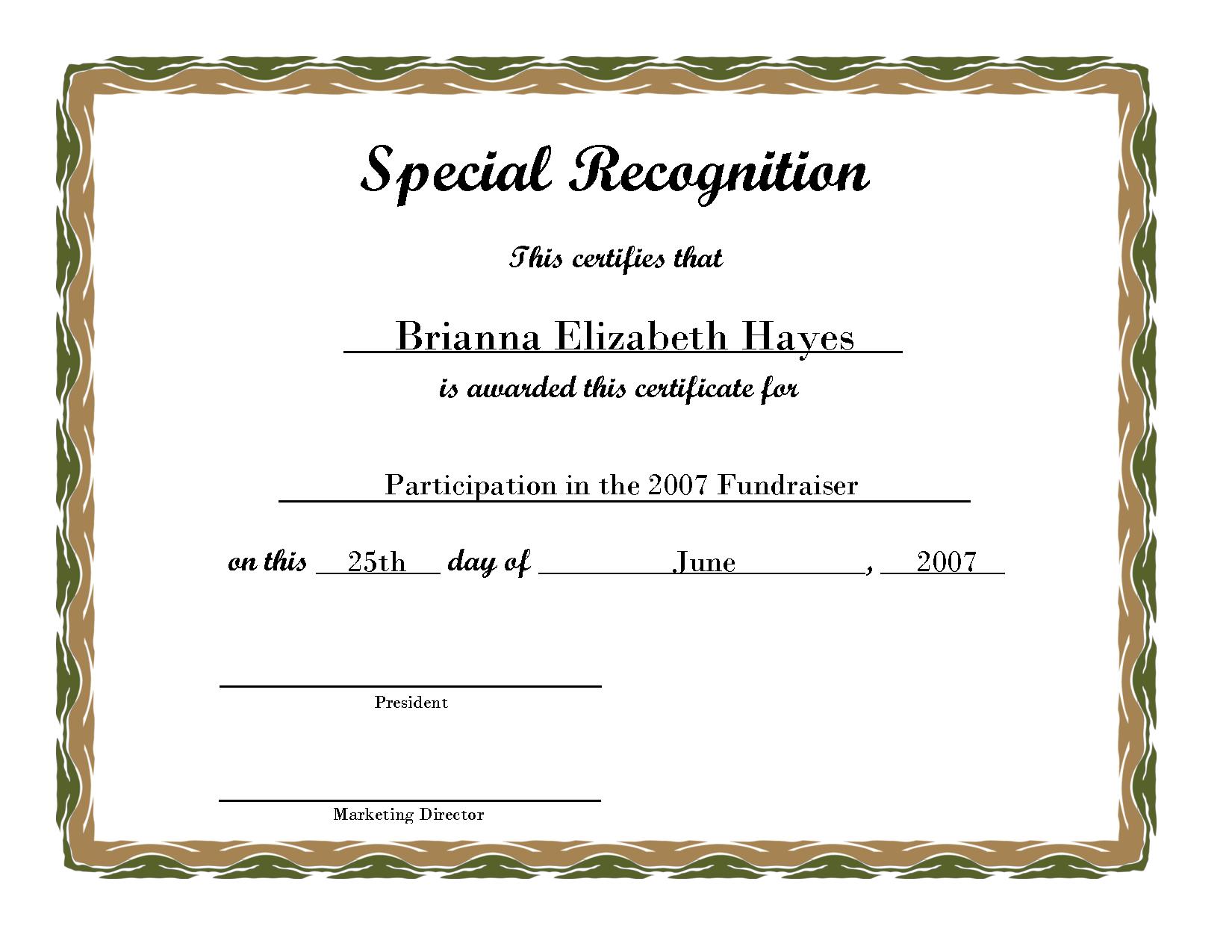 Free Printable Award Certificate Borders | Free Printable - Free Printable Diploma Template