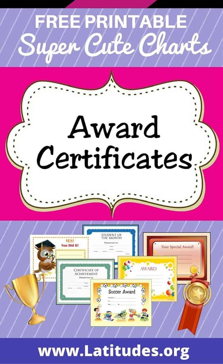 Free Printable Award Certificates For Teachers & Students | Acn - Free Printable Certificates For Teachers
