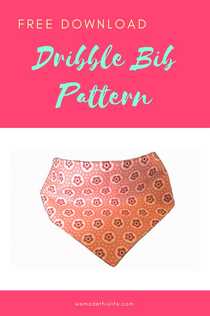 Free Printable Baby Dribble Bib Pattern Pdf   Patterns   Bib Pattern - Free Printable Baby Bandana Bib Pattern