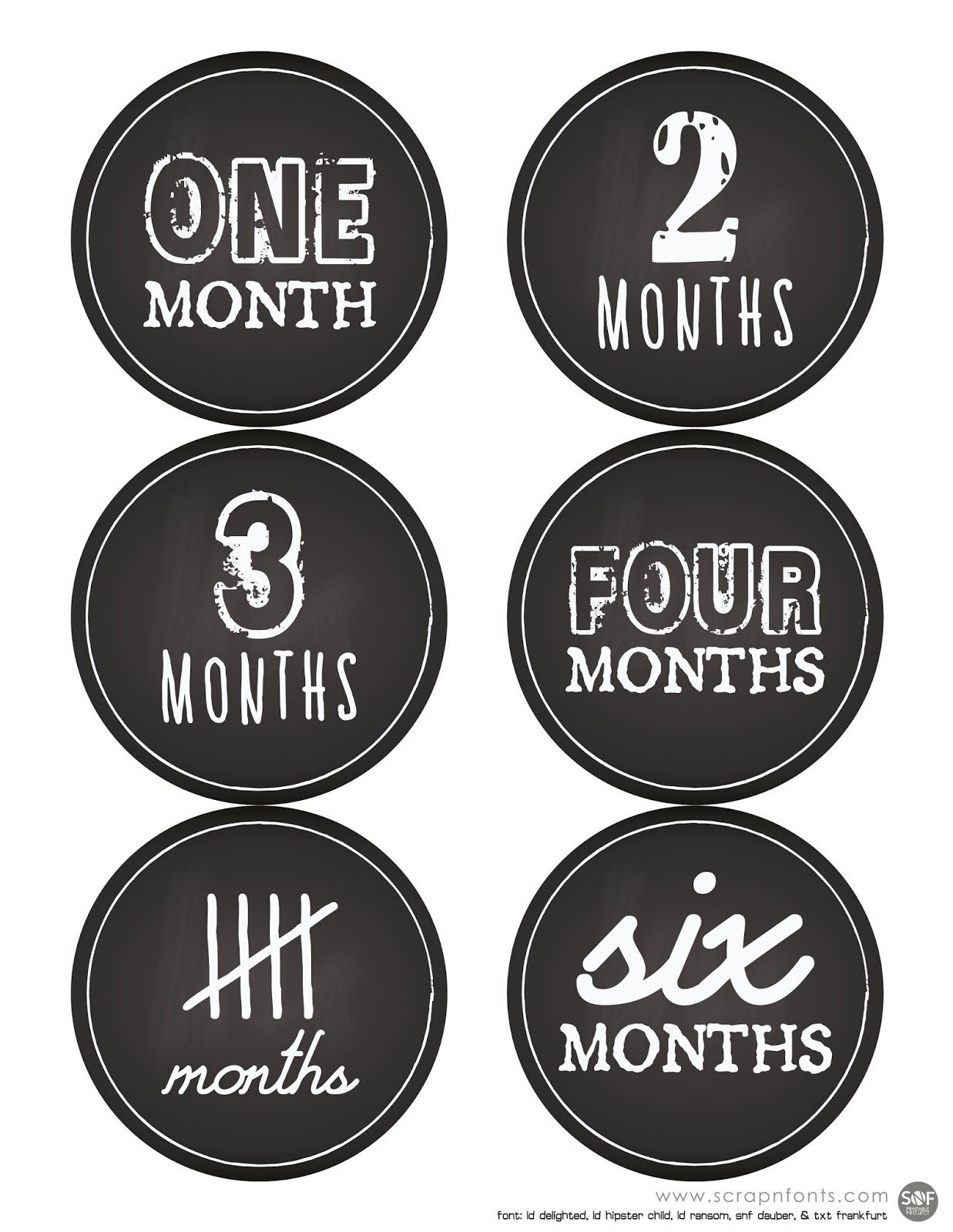 Free Printable Baby First Months Sticker Labels Or Count The Months - Free Printable Baby Month Stickers