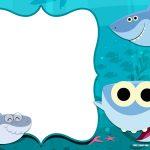 Free Printable Baby Shark Pinkfong Birthday Invitation Template   Shark Invitations Free Printable