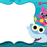 Free Printable Baby Shark Pinkfong Birthday Invitation Template   Shark Invitations Free Printable