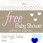 Free Printable Baby Shower Advice & Best Wishes Cards   Fantabulosity   Baby Prediction And Advice Cards Free Printable