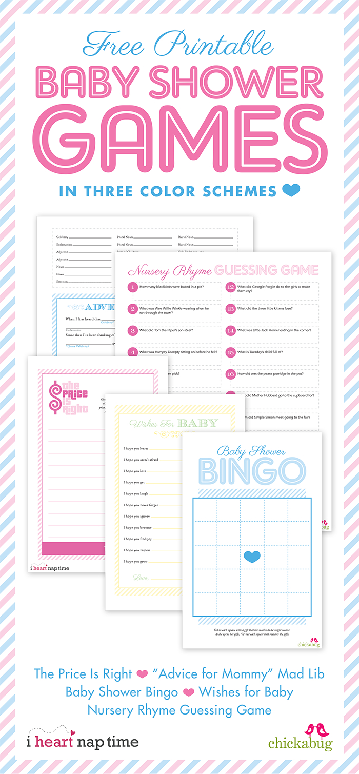 Free Printable Baby Shower Games {With I Heart Nap Time} | Chickabug - Unique Baby Shower Games Free Printable