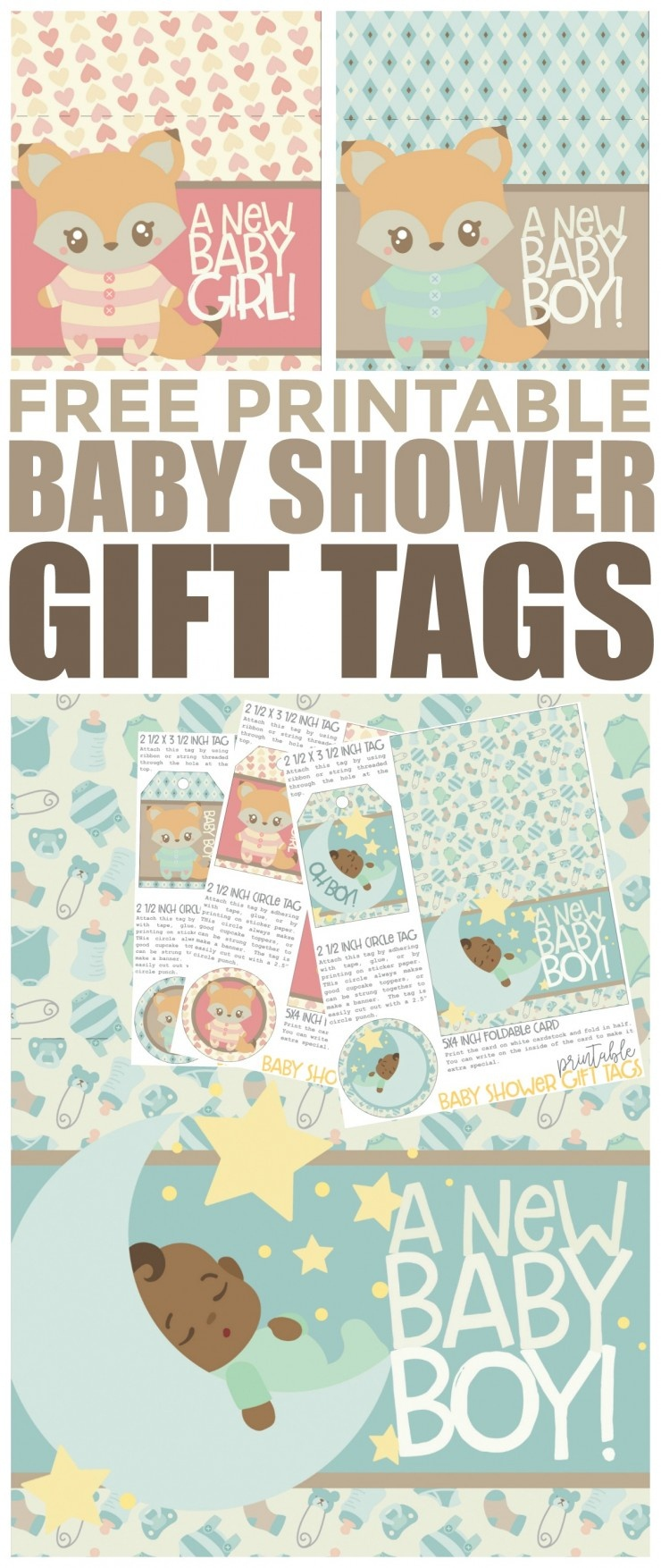 Free Printable Baby Shower Gift Tags - Frugal Mom Eh! - Free Printable Baby Shower Labels And Tags