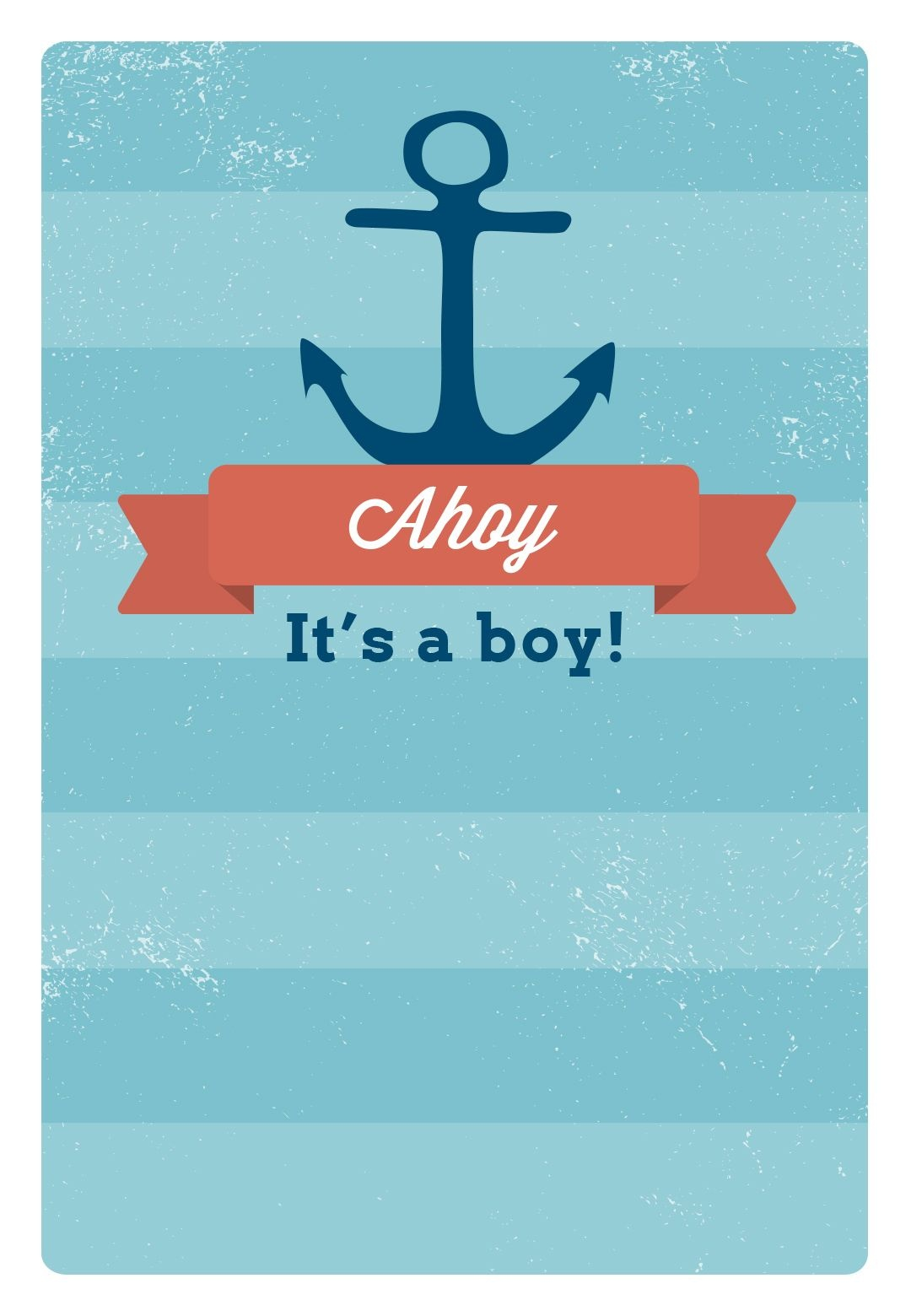 Free Printable Baby Shower Invitation - Ahoy It's A Boy | Greetings - Free Printable Blank Baby Shower Invitations