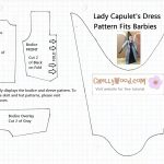 Free Printable Barbie Doll Clothes Patterns And Upcoming Contest   Free Printable Barbie Doll Sewing Patterns Template