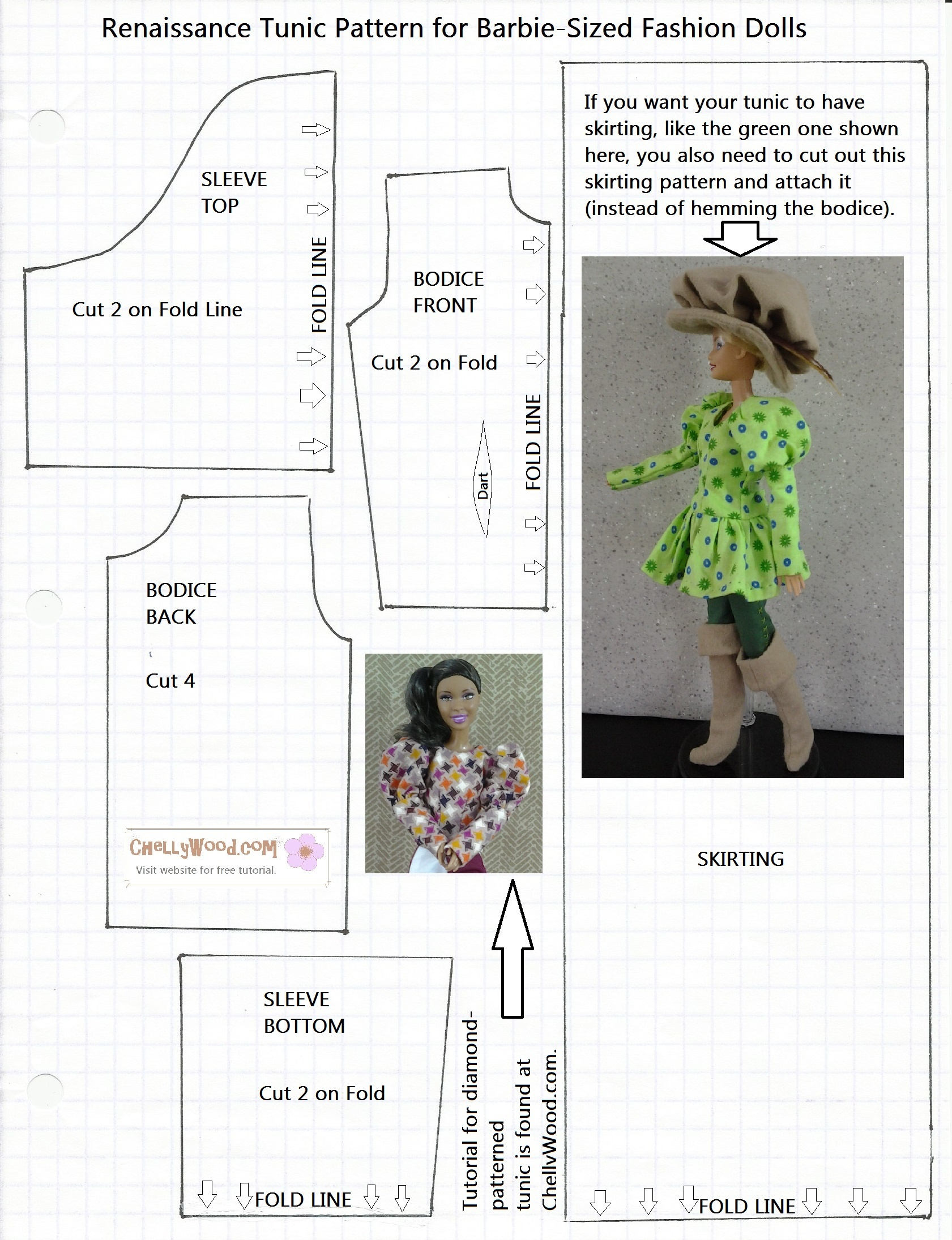 Free Printable Barbie Doll Clothes Patterns – Free, Printable Doll - Free Printable Barbie Doll Sewing Patterns Template