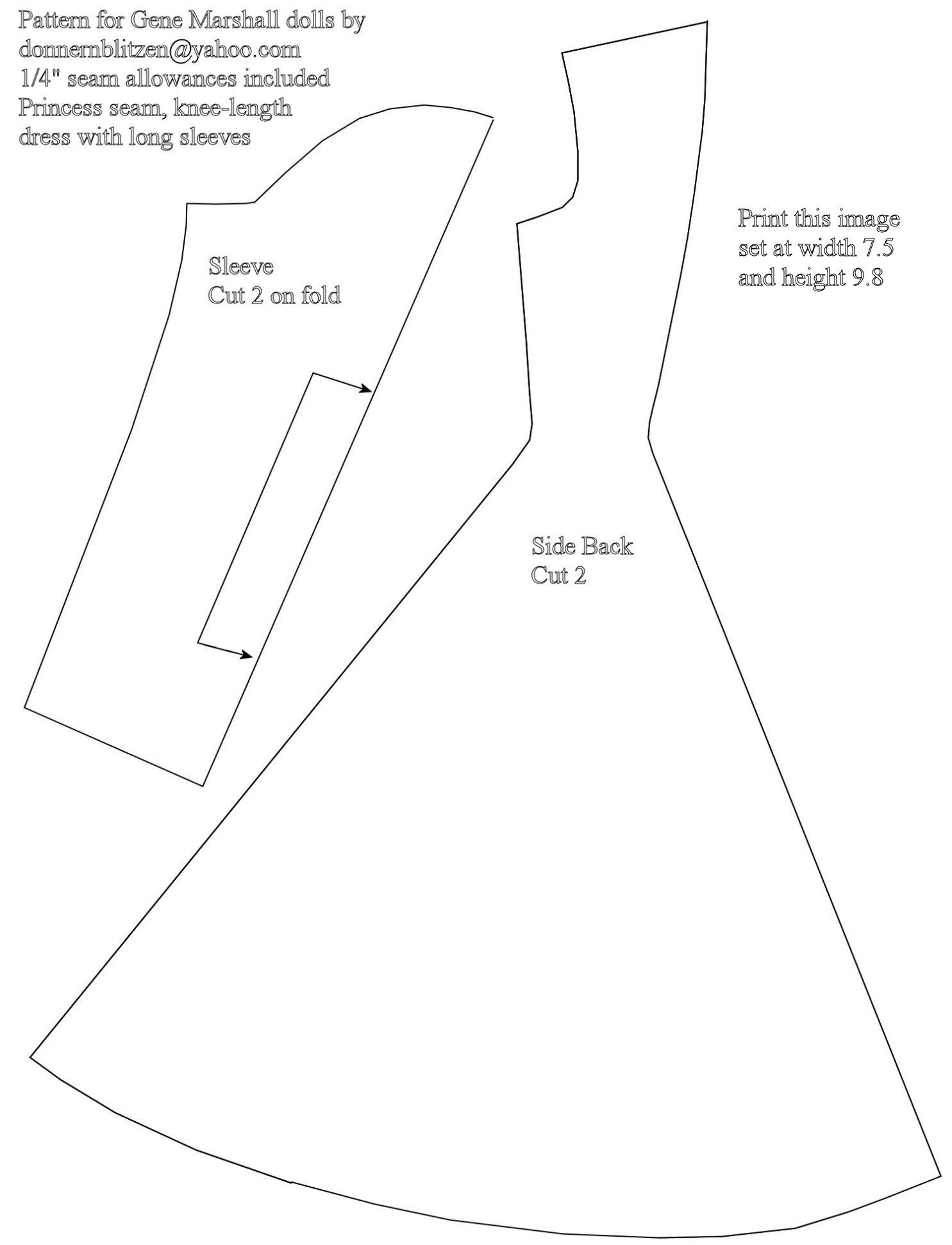Free Printable Barbie Doll Cloths Patterns | Barbie | Barbie Clothes - Free Printable Barbie Doll Sewing Patterns Template