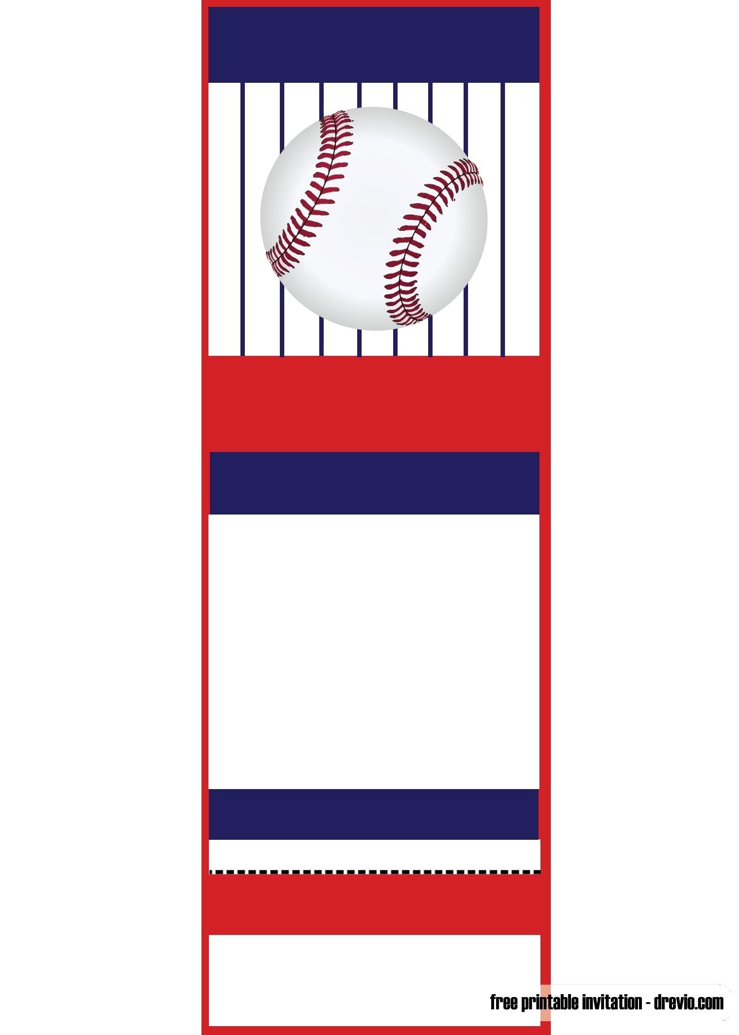 Free Printable Baseball Ticket Invitation Template   Free Printable - Free Printable Baseball Stationery