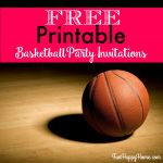 Free Printable Basketball Themed Party Invitations   Fun Happy Home   Free Printable Basketball Cards