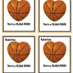Free Printable Basketball Valentines | Valentines | Homemade   Free Printable Basketball Cards