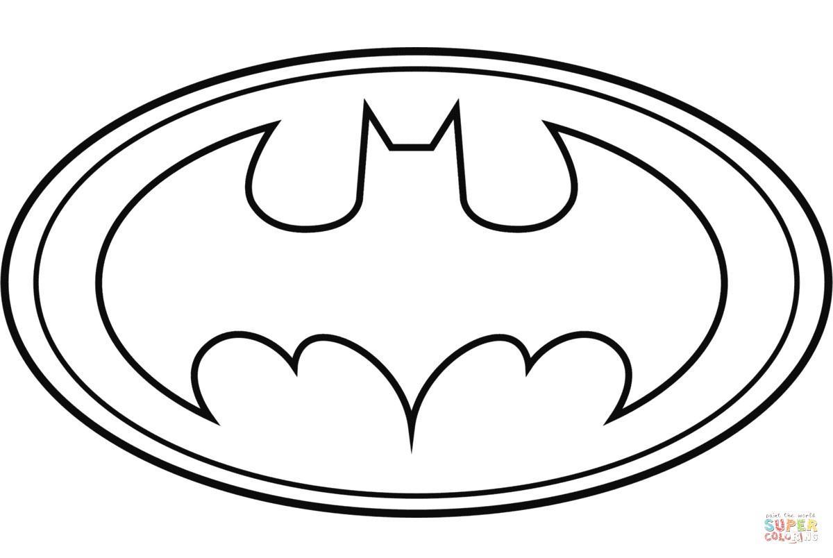 Free Printable Batman Logo Coloring Pages : Coloring Pages - Free Printable Batman Pictures