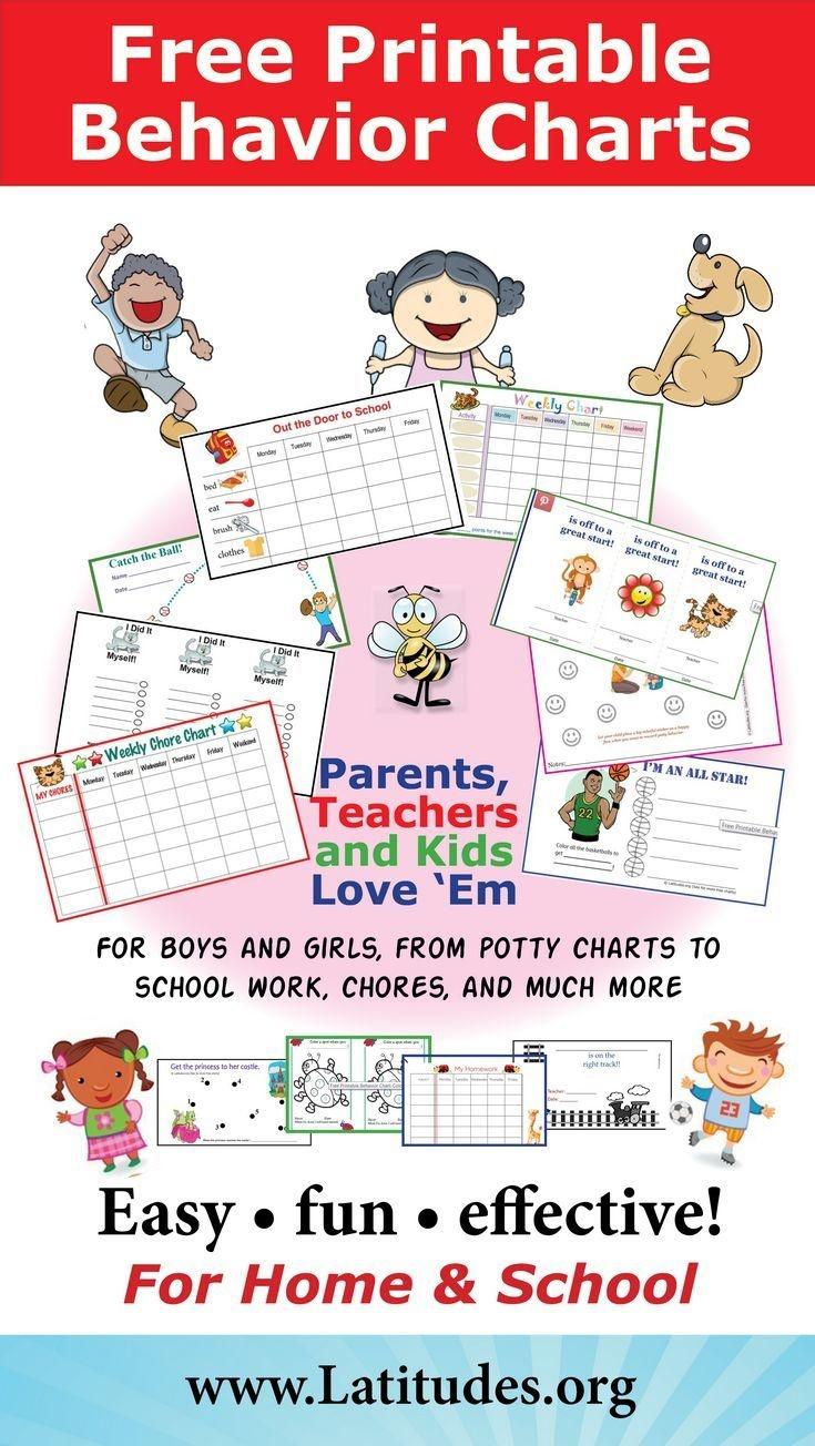 Free Printable Behavior Charts For Home And School   Adhd & Add - Free Printable Charts For Teachers