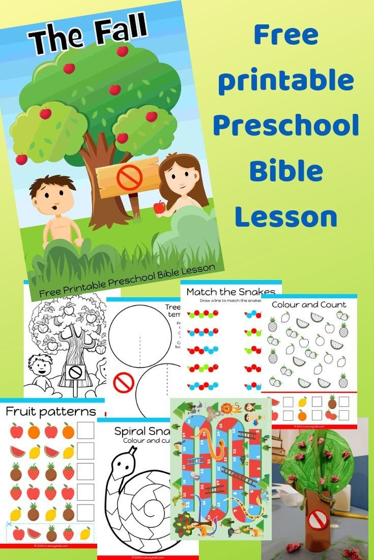 Free Printable Bible Lesson For Preschool Children. Teaching The - Free Printable Bible Lessons For Toddlers