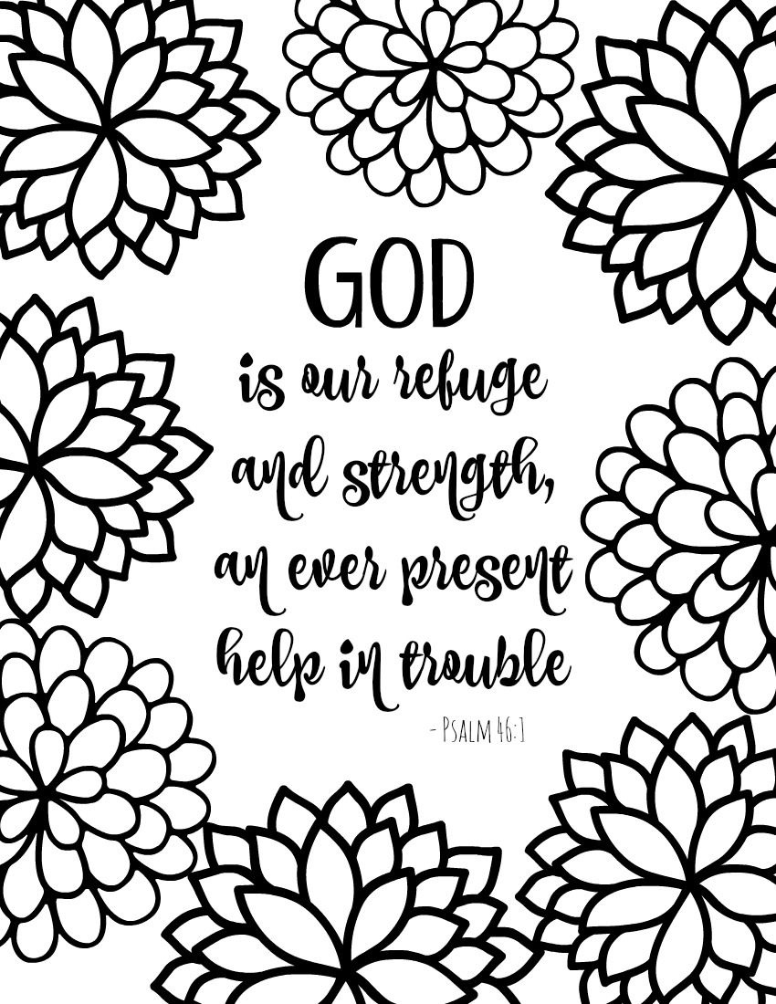 Free Printable Bible Verse Coloring Pages With Bursting Blossoms - Free Printable Sunday School Coloring Sheets