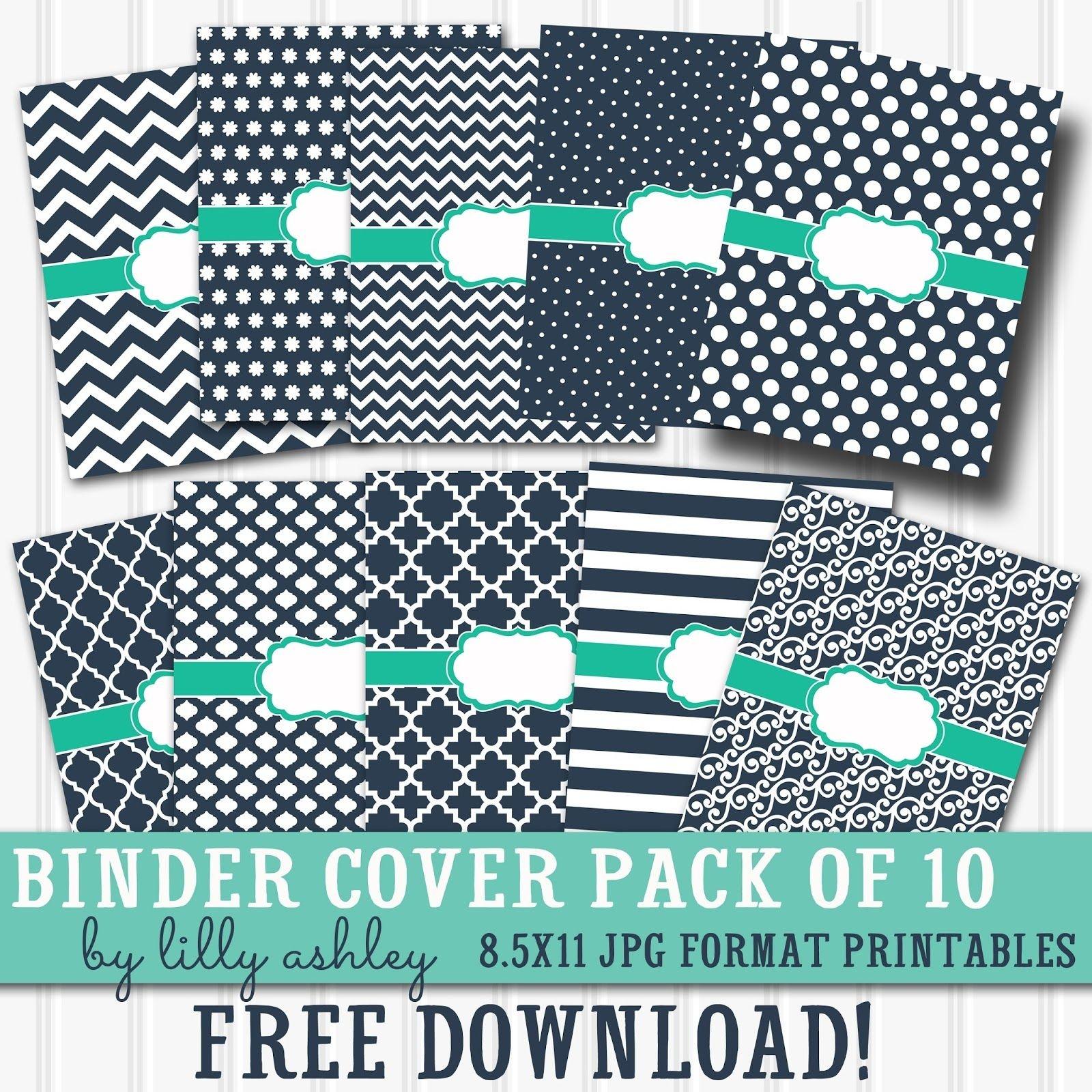 Free Printable Binder Covers Pack Of 10 | Diy School Supplies - Free Printable Binder Covers