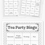 Free Printable Bingo Cards In 2019 | Printables | Harry Potter Bday   Free Printable Tea Party Games