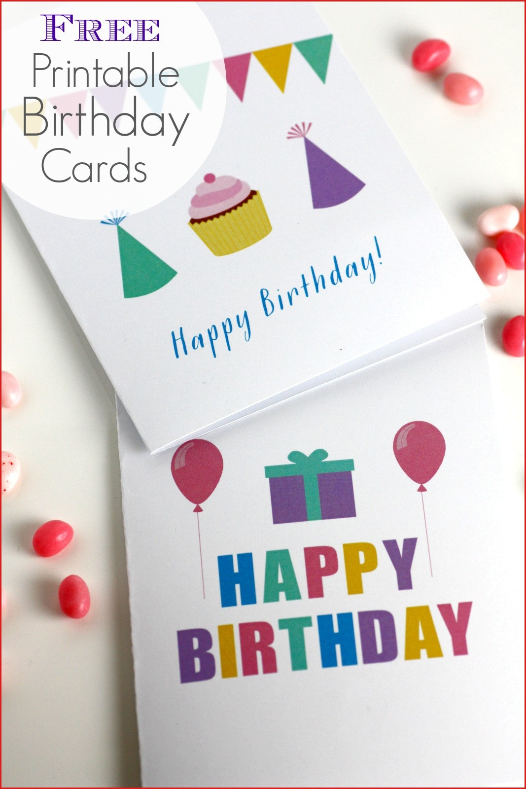 Free Printable Birthday Card 8 Best Images Of Free Printable - Free Printable Birthday Cards For Dad