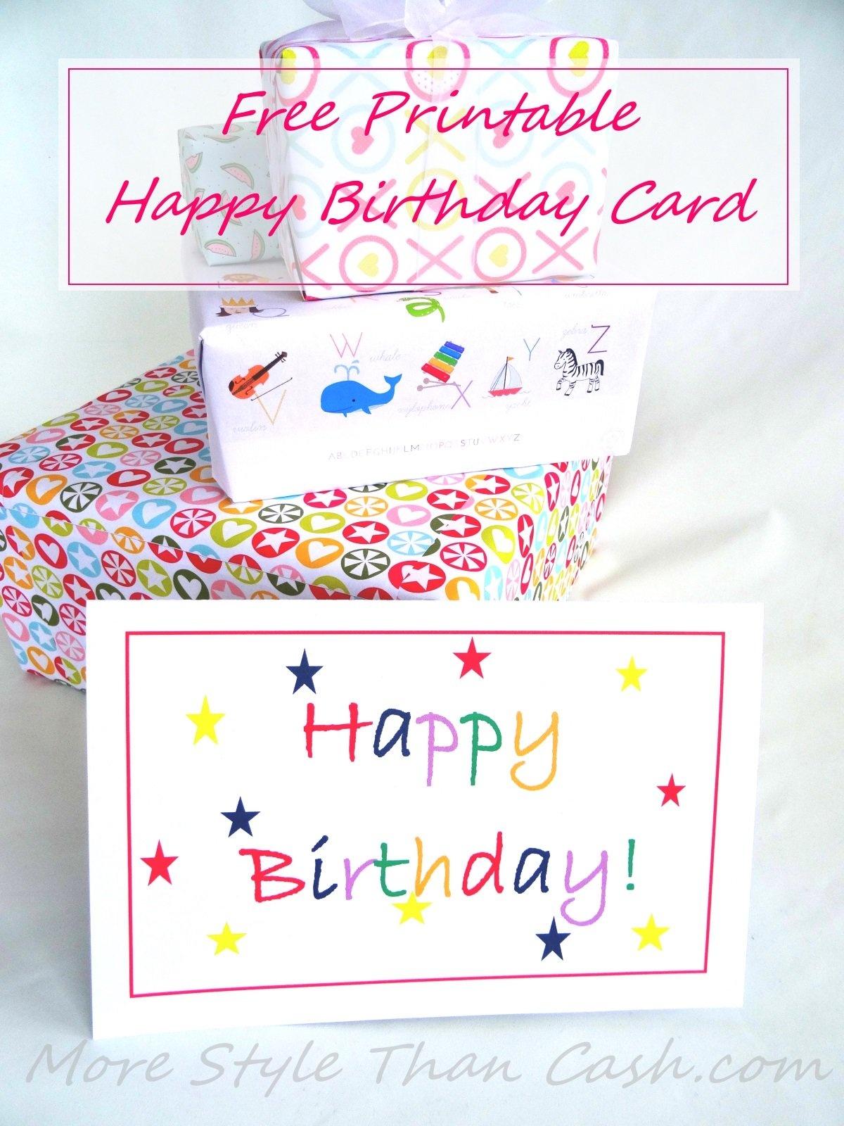 Free Printable Birthday Card - Happy Birthday Free Cards Printable