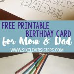 Free Printable Birthday Cards To Color | Dad Card | Free Printable   Free Printable Birthday Cards For Dad