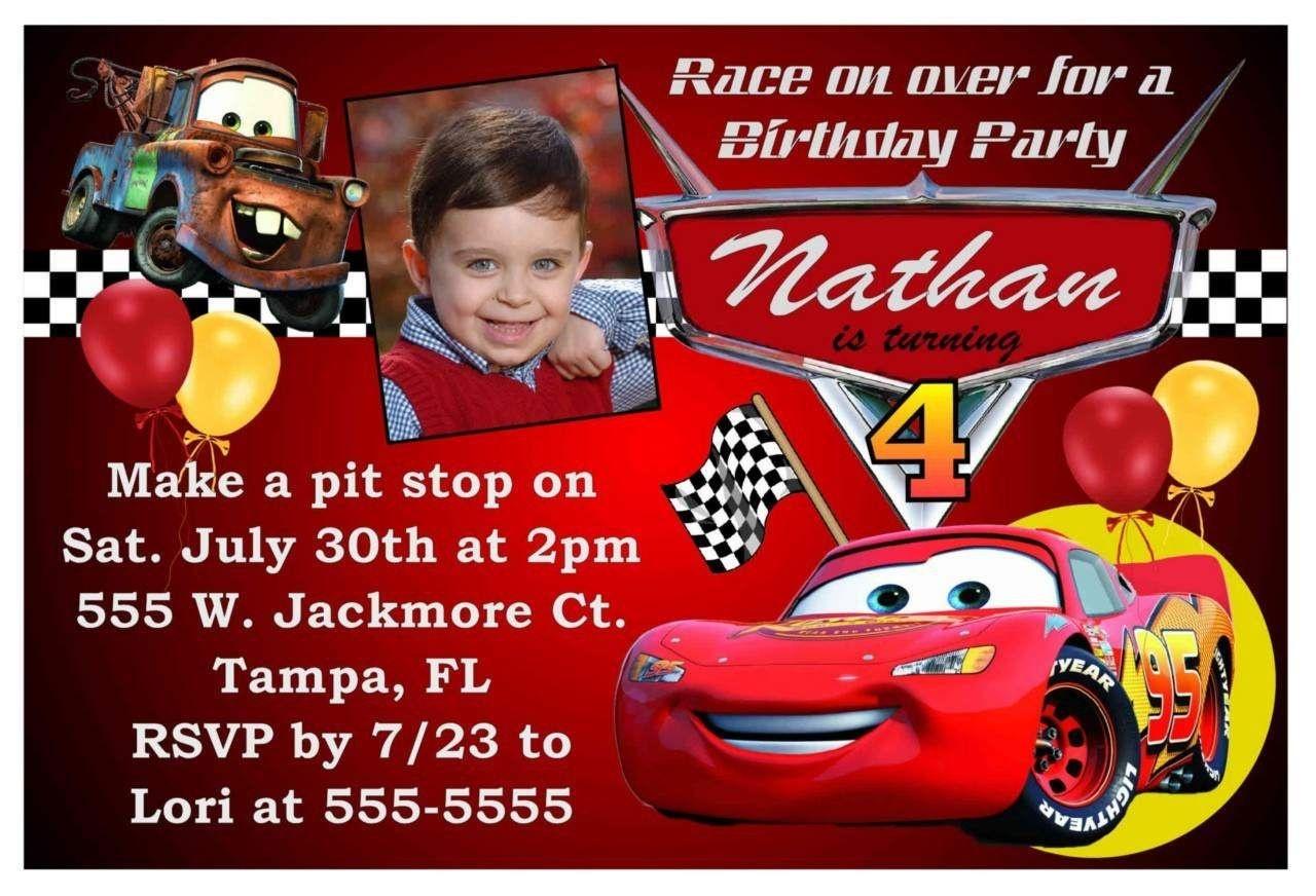 Free Printable Birthday Invitations Cars Theme   Cars In 2019   Cars - Free Printable Birthday Invitations Cars Theme