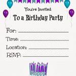 Free Printable Birthday Invitations For Kids #freeprintables   Birthday Party Invitations Online Free Printable