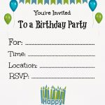 Free Printable Birthday Invitations For Kids #freeprintables   Free Printable Kids Birthday Cards Boys