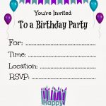 Free Printable Birthday Invitations For Kids #freeprintables   Make Your Own Birthday Party Invitations Free Printable
