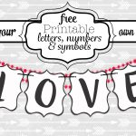 Free Printable Black And White Banner Letters | Diy Swank   Printable Banner Letters Template Free