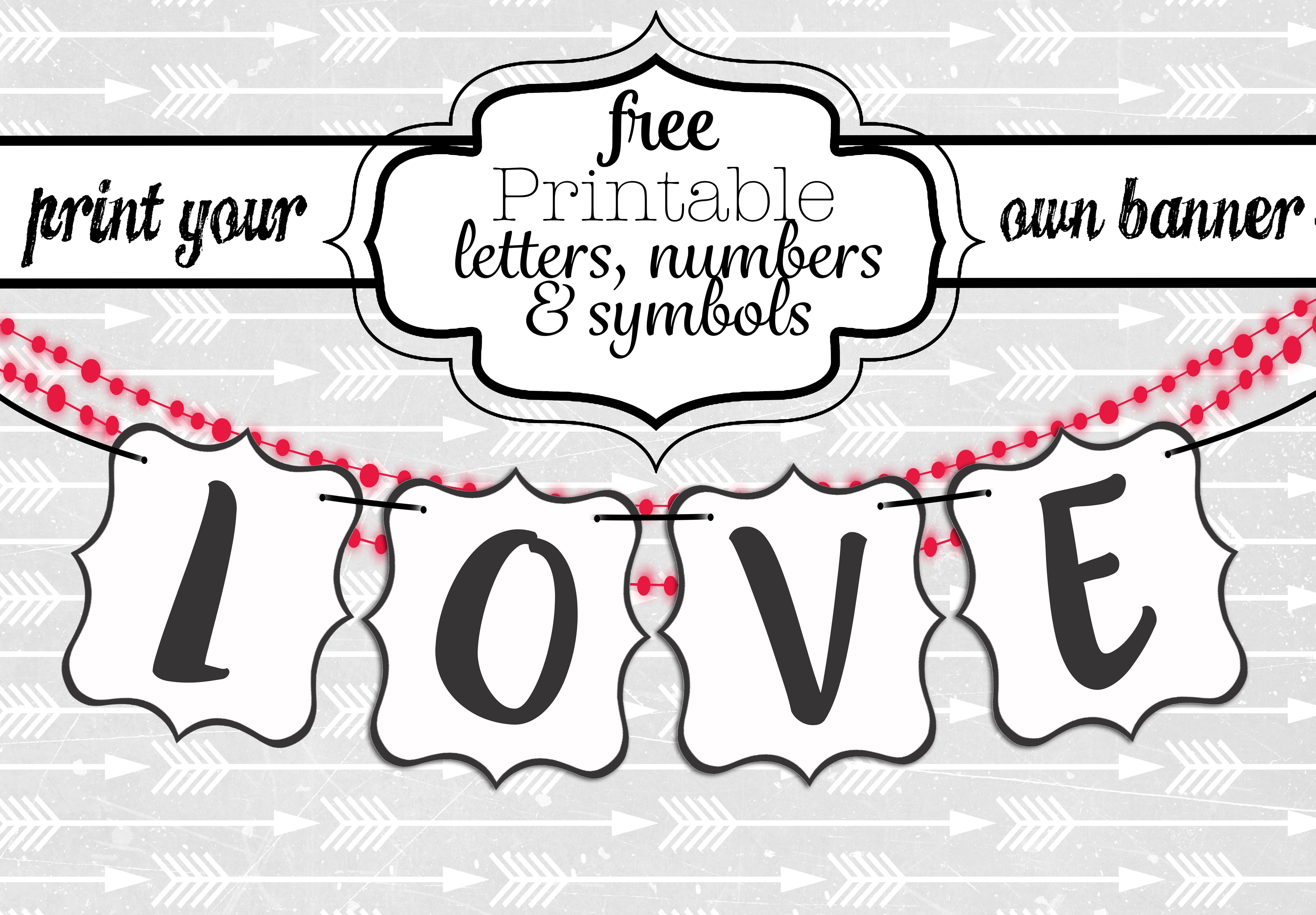 Free Printable Black And White Banner Letters | Diy Swank - Printable Banner Letters Template Free