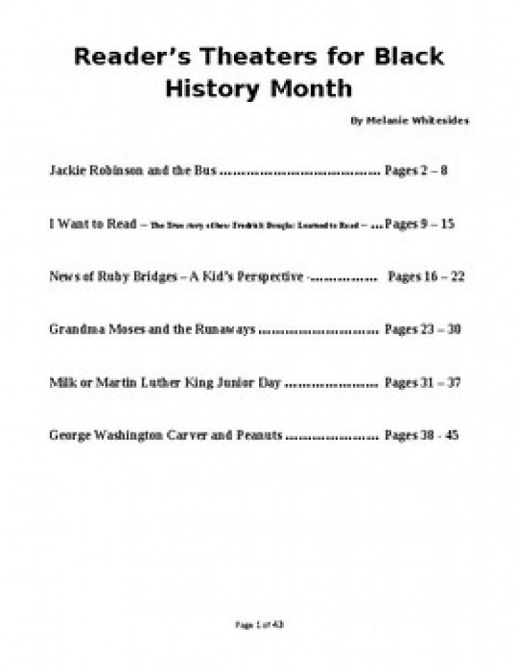 Free Printable Black History Skits For Church