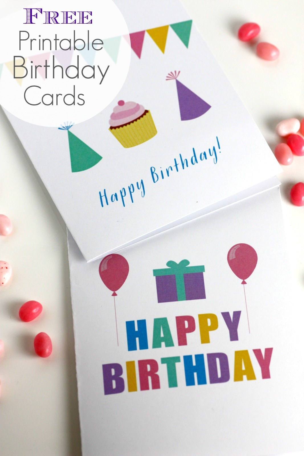 Free Printable Blank Birthday Cards | Catch My Party - Free Printable Bday Cards