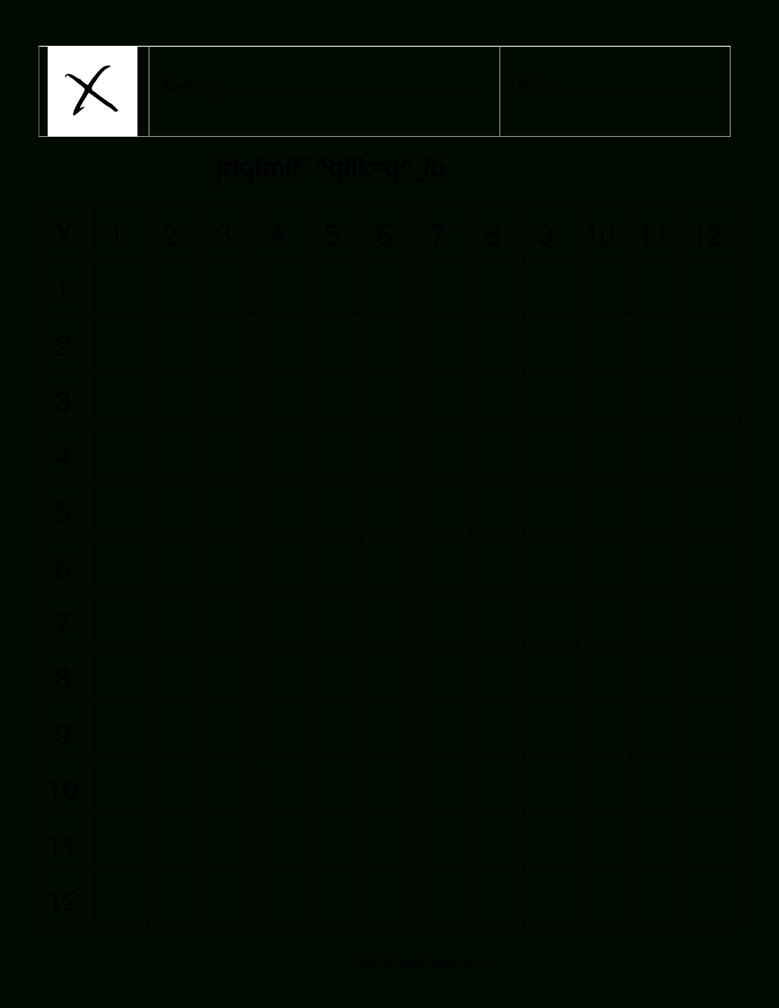 Free Printable Blank Multiplication Table   Multiplication Table - Free Printable Blank Multiplication Table 1 12