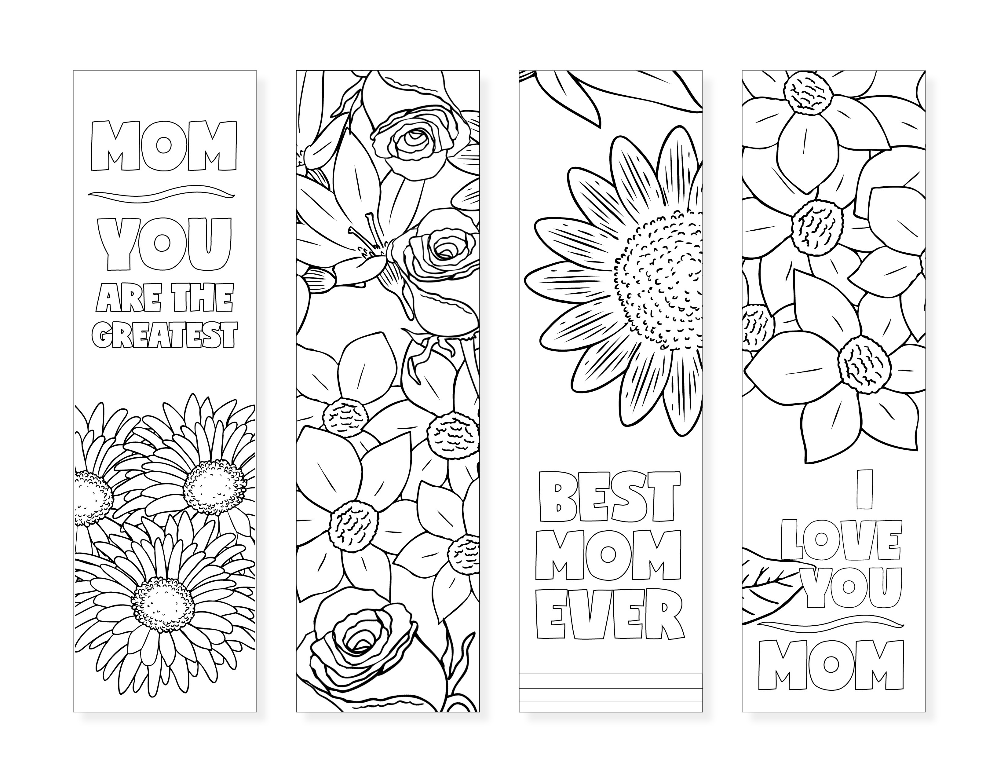 Free Printable Bookmarks For Moms - Design Dazzle - Free Printable Bookmarks