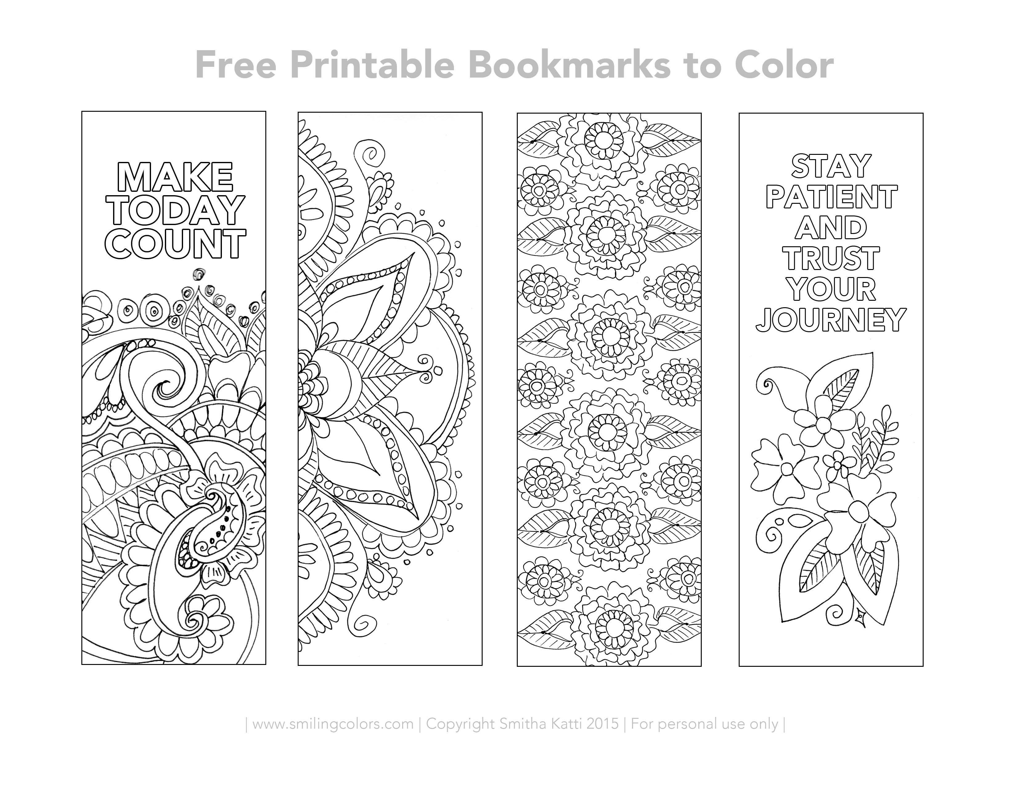 Free Printable Bookmarks To Color | Inspirational | Free Printable - Free Printable Christmas Bookmarks To Color