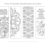 Free Printable Bookmarks To Color | Inspirational | Free Printable   Free Printable Spring Bookmarks