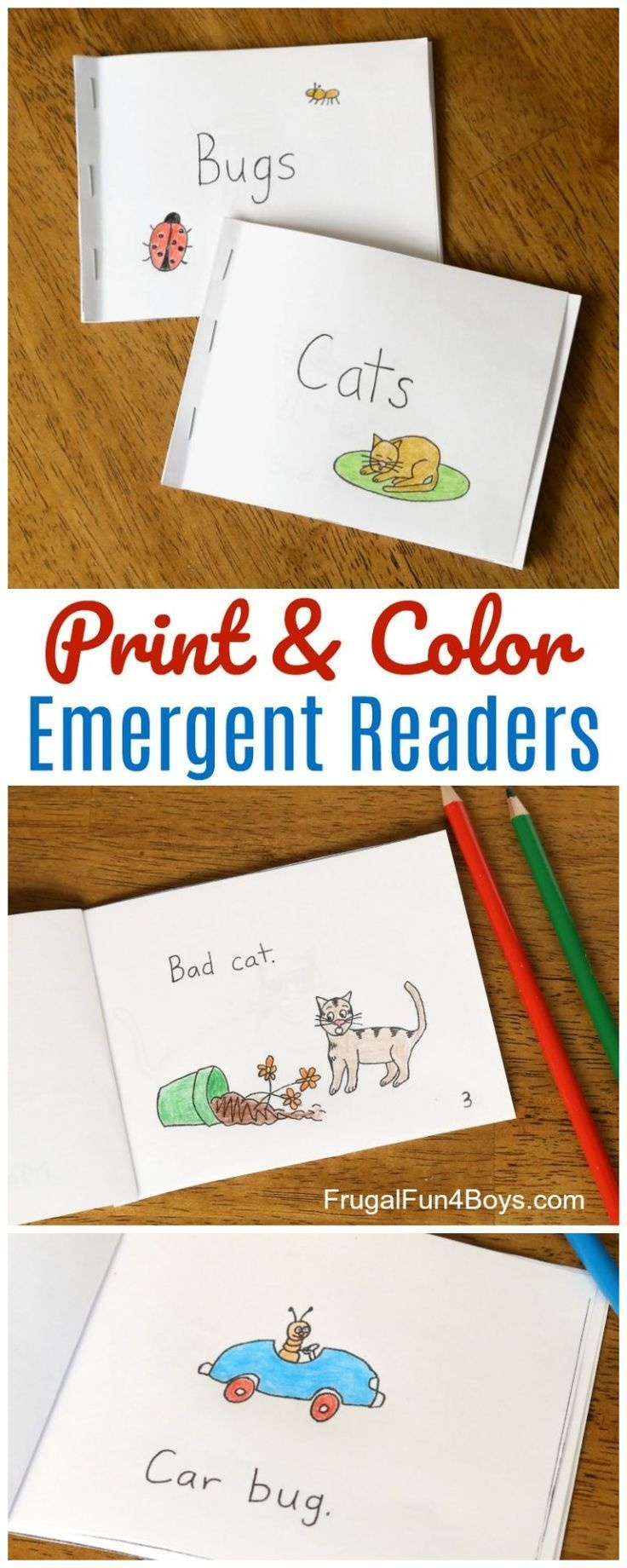 Free Printable Books For Beginning Readers - Level 1 (Easy   Books - Free Printable Phonics Books For Kindergarten