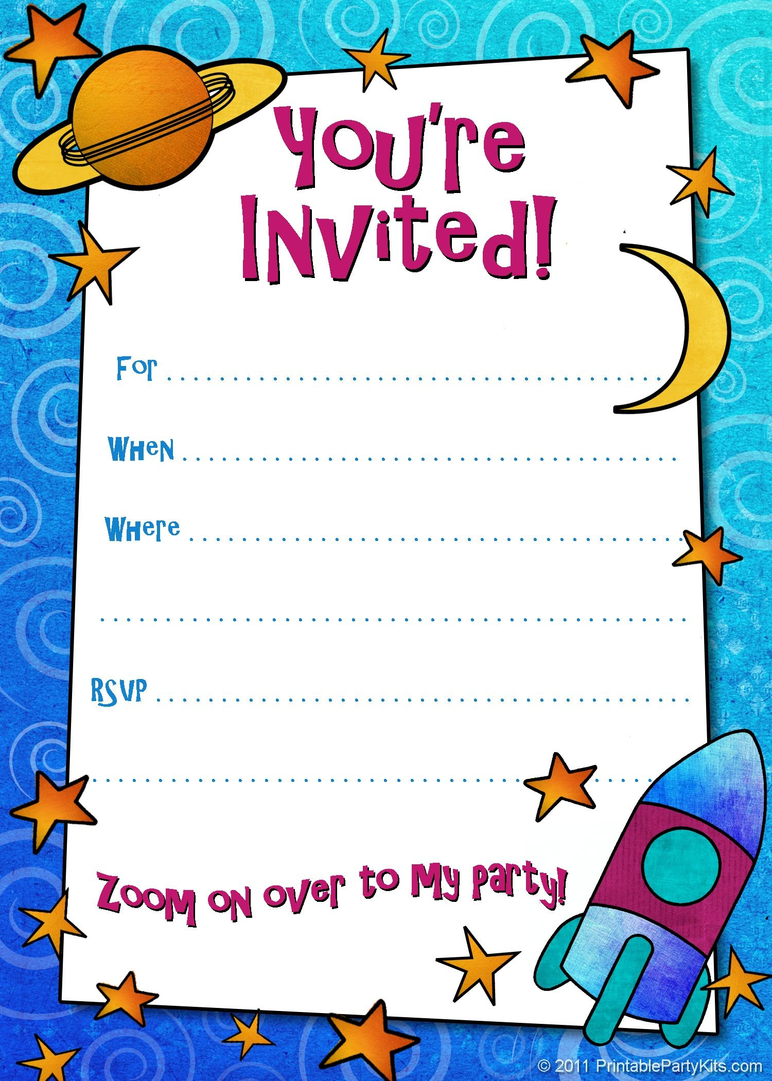 Free Printable Boys Birthday Party Invitations | Birthday Party - Free Printable Birthday Invitation Cards Templates