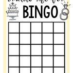 Free Printable Bridal Shower Games | Wedding | Fun Bridal Shower   Free Printable Bridal Shower Bingo
