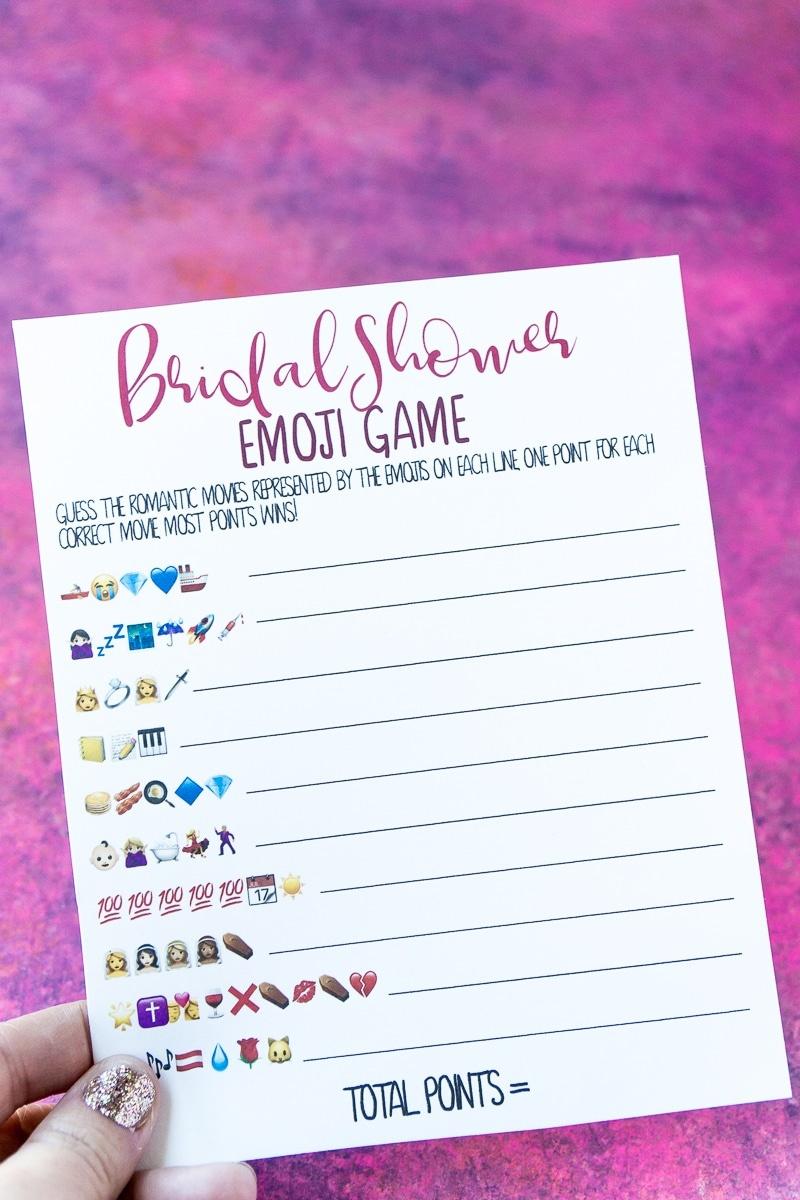 Free Printable Bridal Shower Name The Emoji Game - Emoji Bridal Shower Game Free Printable