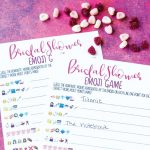 Free Printable Bridal Shower Name The Emoji Game   Free Printable Bridal Shower Games And Activities